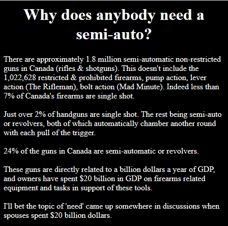 Why does anybody need a semi-auto?