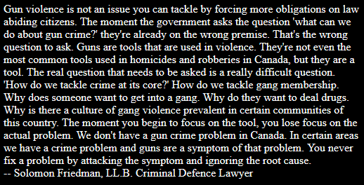 Gun violence is not an issue you can tackle by forcing more obligations on law abiding citizens